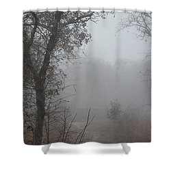 Shower Curtain featuring the photograph Pathway In The Fogs Of Life by Carolina Liechtenstein