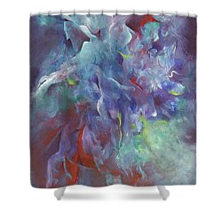 Pathway Of A Prayer Shower Curtain by Karen Kennedy Chatham