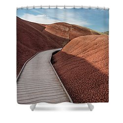 Shower Curtain featuring the photograph Pathway Through The Reds by Greg Nyquist