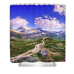 Shower Curtain featuring the photograph Pathway To A Valley by Dmytro Korol