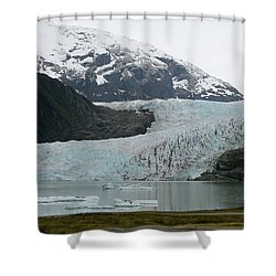 Shower Curtain featuring the photograph Pathway To An Icy Wonderland by Brandy Little