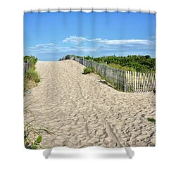 Shower Curtain featuring the photograph Pathway To The Beach - Delaware by Brendan Reals