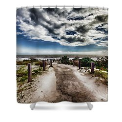 Shower Curtain featuring the photograph Pathway To The Beach by Douglas Barnard