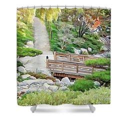 Pathway Trough Japanese Garden Shower Curtain