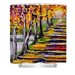 Pathyway To The Light - Landscape Shower Curtain