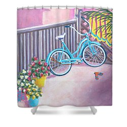 Patio Parking Shower Curtain