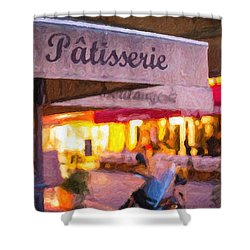 Patisserie - Paris Art Print Shower Curtain