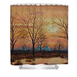 Patomac River Sunset Shower Curtain
