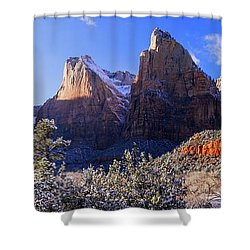 Shower Curtain featuring the photograph Patriarchs by Chad Dutson