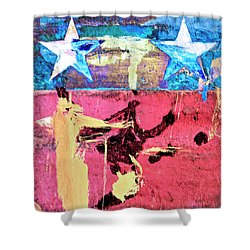 Shower Curtain featuring the painting Patriot Act by Dominic Piperata