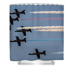 Patriot Aerial Demonstration Team Shower Curtain by Tommy Anderson