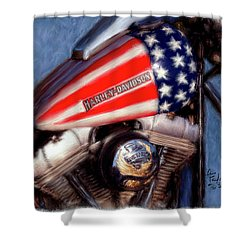 Live To Ride Shower Curtain