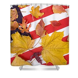 Patriotic Autumn Colors Shower Curtain by James BO  Insogna