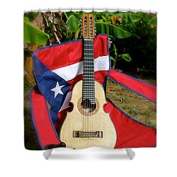 Patriotic Cuatro Shower Curtain
