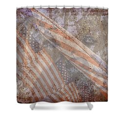 Patriotic Lab Shower Curtain by Mary Ward