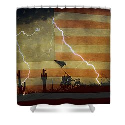 Patriotic Operation Desert Storm Shower Curtain by James BO  Insogna