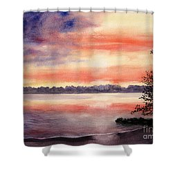 Patriotic Windjammer Sky Shower Curtain