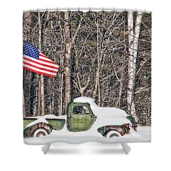 Shower Curtain featuring the photograph Patriotic Winter by Richard Bean