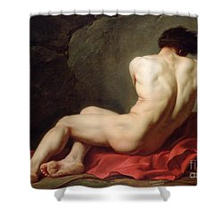 Patrocles Shower Curtain by Jacques Louis David
