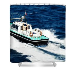 Shower Curtain featuring the photograph Piloting The Waters by Sue Melvin