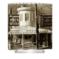 Pat's King Of Steaks - Philadelphia Shower Curtain by Bill Cannon
