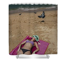 Shower Curtain featuring the photograph Pattaya Beach by Setsiri Silapasuwanchai