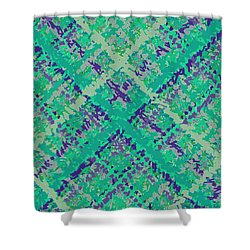 Shower Curtain featuring the digital art Pattern 185 by Marko Sabotin