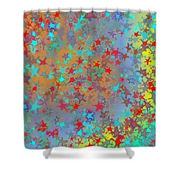 Shower Curtain featuring the digital art Pattern 191 by Marko Sabotin
