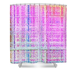 Shower Curtain featuring the digital art Pattern 193 by Marko Sabotin