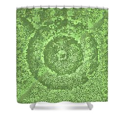 Shower Curtain featuring the digital art Pattern 194 by Marko Sabotin