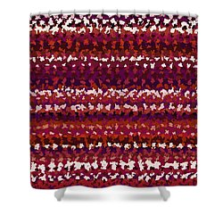 Shower Curtain featuring the digital art Pattern 197 by Marko Sabotin