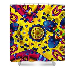 Pattern 2 Intersect Shower Curtain by Ron Bissett