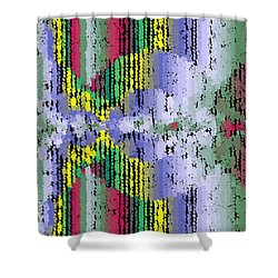 Shower Curtain featuring the digital art Pattern 202 by Marko Sabotin