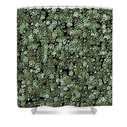 Shower Curtain featuring the digital art Pattern 209 by Marko Sabotin