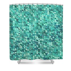 Shower Curtain featuring the digital art Pattern 211 by Marko Sabotin