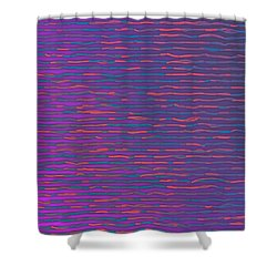 Shower Curtain featuring the digital art Pattern 214 by Marko Sabotin