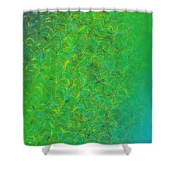 Shower Curtain featuring the digital art Pattern 215 by Marko Sabotin
