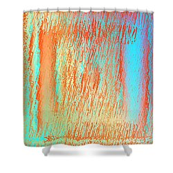 Shower Curtain featuring the digital art Pattern 216 by Marko Sabotin