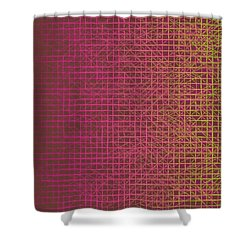 Shower Curtain featuring the digital art Pattern 217 by Marko Sabotin