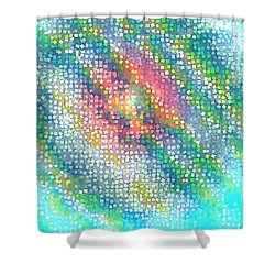 Shower Curtain featuring the digital art Pattern 229 by Marko Sabotin