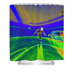 Pattern 293 _ Be Active Shower Curtain