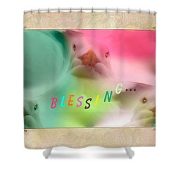 Pattern 310 _ Blessing... Shower Curtain