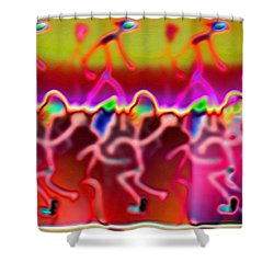 Pattern 329 _ Contrast Shower Curtain