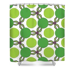 Pattern Green Shower Curtain