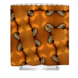 Opposing Patterns Shower Curtain