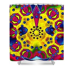 Pattern Intersect Shower Curtain by Ron Bissett