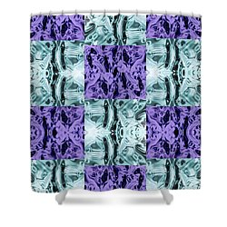 Ultra Violet  And Water  Shower Curtain