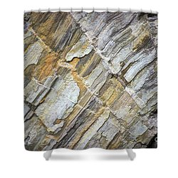 Shower Curtain featuring the photograph Patterns In The Rock by Kerri Farley