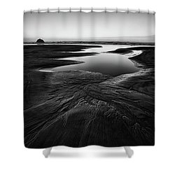 Shower Curtain featuring the photograph Patterns In The Sand by Jon Glaser
