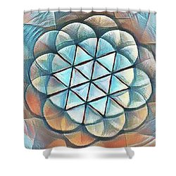 Patterns Of Life Shower Curtain